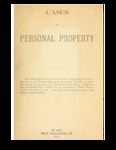 Cases on Personal Property