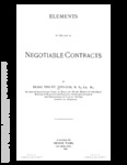 Elements of the Law of Negotiable Contracts