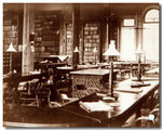 Library in first Law Building c. 1888 by University of Michigan Law School