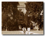 Law Quad & Students, October 1953 by University of Michigan Law School