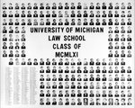 University of Michigan Law School Class of 1961