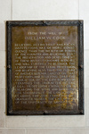 Plaque: From the Will of William W. Cook