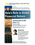 Asia's Role in Global Financial Reform