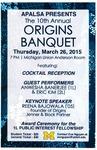 The 10th Annual Origins Banquet
