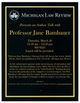 Michigan Law Review Presents an Author Talk with Professor Jane Bambauer