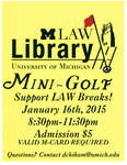 Mini-Golf in the Law Library