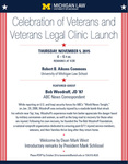 Celebration of Veterans and Veterans Legal Clinic Launch