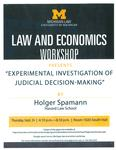 Experimental Investigation of Judical Decision-Making