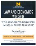 Two Randomized Field Experiments in Access to Justice