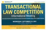 Transactional Law Competition: Informational Meeting