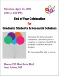 End of Year Celebration for Graduate Students & Research Scholars