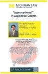 """International"" In Japanese Courts"