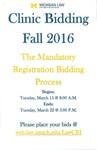 Clinic Bidding Fall 2016