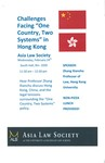 """Challenges Facing """"One Country, Two Systems"""" in Hong Kong"""