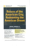 Return of the American City, Redeeming the American Dream