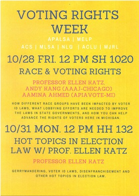 voting rights week by university of michigan law school