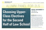 Alumni Panel for 2Ls