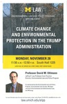 Climate Change and Environmental Protection in the Trump Administration