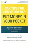 Tax Tips for Law Students: Put Money in Your Pocket