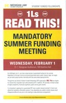 Mandatory Summer Funding Meeting