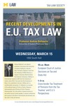 Recent Developments in E.U. Tax Law