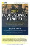 2017 Public Service Banquet by University of Michigan Law School