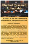 Student Research Roundtable: The Effect of the Macroeconomic Environment on Judicial Behavior
