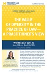 The Value of Diversity in the Practice of Law- A Practitioner's View