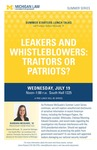Leakers and Whistleblowers: Traitors or Patriots?