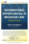 International Opportunities at Michigan Law: Alumni Panel