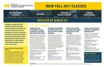 New Fall 2017 Classes