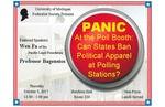 PANIC At the Poll Booth: Can States Ban Political Apparel at Polling Stations?