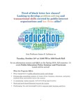 Public Education Policy Seminar and Practicum Information Session