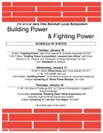Building Power & Fighting Power Schedule of Events