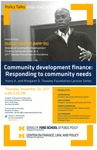 Community development finance: Responding to community needs