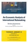 An Economics Analysis of International Rulemaking