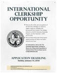 International Clerkship Opportunity