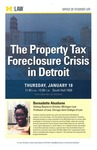 The Property Tax Foreclosure Crisis in Detroit