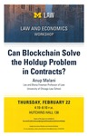 Can Blockchain Solve the Holdup Problem in Contracts?