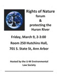 Rights of Nature forum & protecting the Huron River