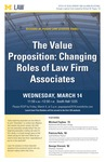 The Value Proposition: Changing Roles of Law Firm Associates
