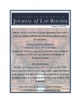 Join the <em>Journal of Law Reform</em>