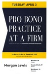 Pro Bono Practice at a Firm by University of Michigan Law School