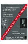 Special Prosecutor ≠ Objective by University of Michigan Federalst Society