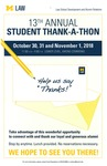 13th Annual Student Thank-A-Thon by University of Michigan Law School.