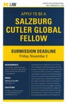Apply to Be a Salzburg Cutler Global Fellow by University of Michigan Law School