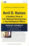 Avril D. Haines: A Insider's View of U.S. National Security from a Top Intelligence Officer by University of Michigan Law School