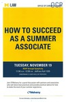 How to Succeed as a Summer Associate by University of Michigan Law School