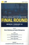 Henry M. Campbell Moot Court Competition Final Round by University of Michigan Law School